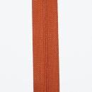 Reißverschluss bronzeorange, Meterware ohne Schieber