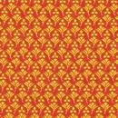 Basic orange mit gelbenBlumenornamenten, Tribal Council