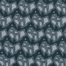 Terra Australis, Australien, grau auf dunkelgrau