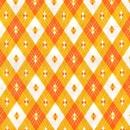 Ella Blue, weiße und orange Rauten