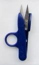 Ringfingerschere mit blauem Kunststoffgriff