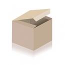 Bunte Herzchen auf rotem Hintergrund