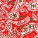 Roter Blumenpaisley mit weiß