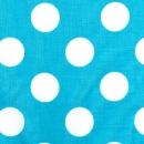 Weiße Punkte auf himmelblau