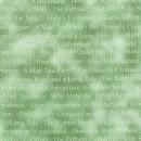 Blassgrün marmorierter Basic mit Schrift