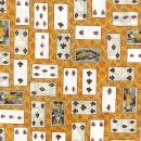 Alice im Wunderland, Spielkarten auf honiggelb