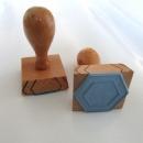Hexagon Stempel. 1,5 cm Seitenlänge