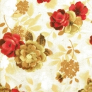 Blüten auf beige, Topaz