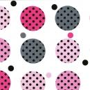 Gepunktete Kreise auf weißem Hintergrund