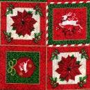 Weihnachtsmotivbilder Rentier, Poinsettia