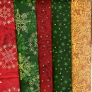 Fat Quarter Set Weihnachten, 5 FQ
