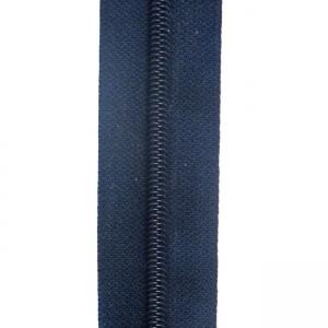 Reißverschluss schwarzblau, Meterware ohne Schieber