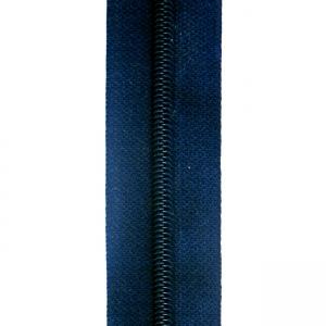 Reißverschluss dunkelblau, Meterware ohne Schieber