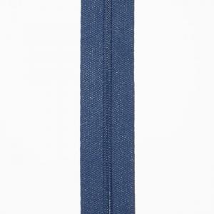 Reißverschluss blau, Meterware ohne Schieber