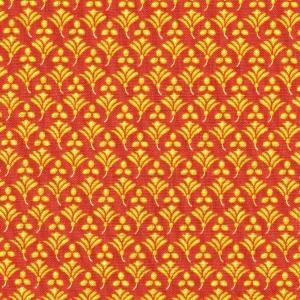 Basic orange mit gelben Blumenornamenten