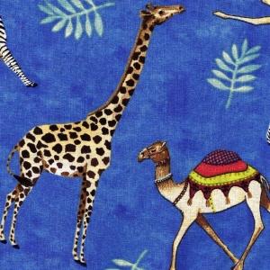 Afrikatiere auf blauem Hintergrund