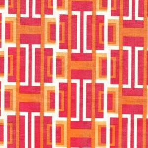 Basic mit Grafikmuster in weiss, orange, rot