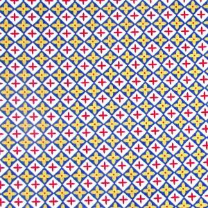 Basic kleine Rauten weiß, blau