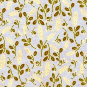Gelbe Rispenblumen auf hellblauem Grund