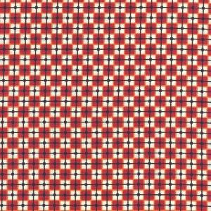 Basic, rot-natur kariert mit schwarzem Gitter