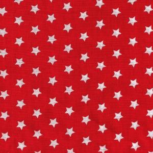 Weiße Sterne auf rot