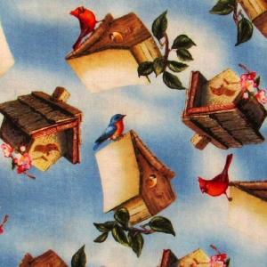 Vögel auf Vogelhäuschen