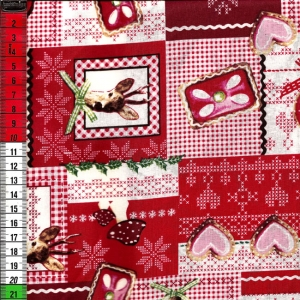 Alpenländische Weihnacht rot-weiß