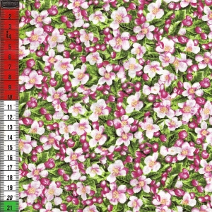 Blätter und rosa Blüten