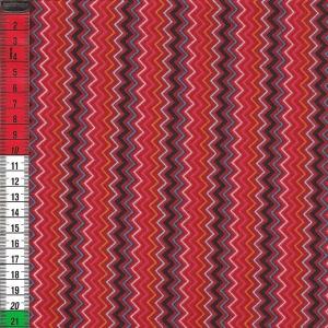 Bunte Zickzacklinien auf rotem Hintergrund